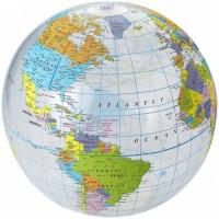 19538615f Przezroczysta piłka plażowa Globe