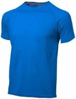 33019423f Męski T-shirt Serve z krótkim rękawem z tkaniny Cool Fit odprowadzającej wilgoć L Male