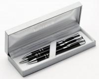 C PDO Z1 3el Zestaw Cosmo pióro, długopis, ołówek w srebrnym etui