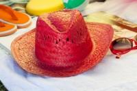 AP761017c kolorowy kapelusz słomkowy
