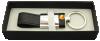 908095s-01 Brelok z kryształem SKÓRA