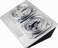 8618q srebrny zegar z funkcją stref czasowych
