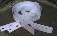 MP1m-4 Miarka papierowa 1m - 4 kolory lub CMYK