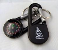 2054k-03 Karabinek z kompasem, brelok