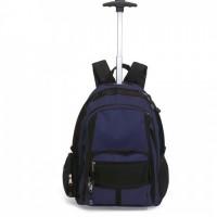 2589k-03 Dwukolorowy plecak na kółkach