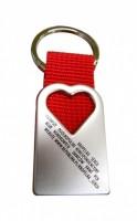 7155m-05 Metalowy brelok serce