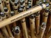 7318m-40 Bambusowy długopis z metalowym klipsem