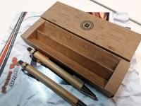 8111m-40 Bambusowy zestaw długopis i ołówek