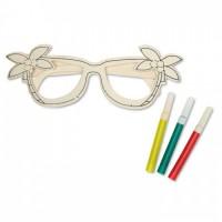 8247m-40 Drewniane okulary.