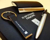 8406m-03 Biznesowy zestaw: brelok długopis wizytownik