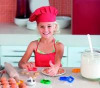 8410m-05 Zestaw dziecięcy: kuchenna czapka i fartuszek