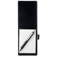 8554m-03 Notes dziennikarski A7 w etui z długopisem