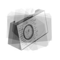 8558m-16 Obrotowy zegar biurkowy