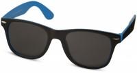 10050001 Okulary przeciwsłoneczne Sun Ray – czarne z kolorowymi wstawkami