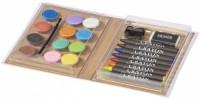 10709500f Zestaw do malowania farbami i kredkami Piza