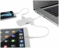 13426801f Hub USB Grid z dwoma kablami