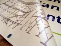 Baner 100x100cm Baner Reklamowy oczkowany 100x100cm