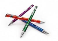 S ZD1 srebrne STAR długopis w srebrnym plastikowym etui