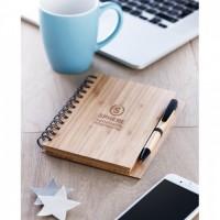 9435m-40 Notes bambusowy A5 LINIA i długopis