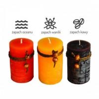 74761p zestaw świec o zapachu wanilii, kawy, oceanu