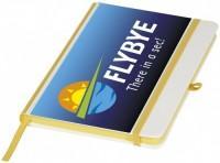 10725803f Notes A5 z okładką z PU (poliuretanu) i kolorowym grzbietem do wydruków cyfrowych