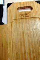 11293600f Bambusowa deska do krojenia z nożem