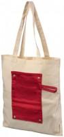 12040703f Bawełniana, zwijana torba zapinana na guzik Snap 180 g/m²