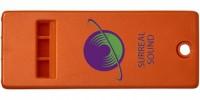 21013102f Płaski gwizdek z dużą powierzchnią na logo Wanda