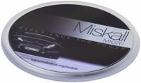 21051400f Podkładka okrągła z papierową wkładką Ellison wykonana z tworzywa sztucznego