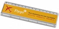 21053800f Linijka Ellison o długości 15 cm wykonana z tworzywa sztucznego z papierową wkładką