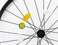 21085201f Okrągłe odblaskowe napinacze do szprych roweru