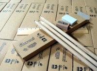 126079c Zestaw ołówków z linijką i gumka