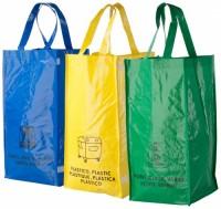 123774c Kolorowe torby do segregacji odpadków