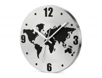 03069a zegar ścienny z mapa świata na tarczy