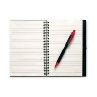 7396m notes w linie na spiralii z długopisem