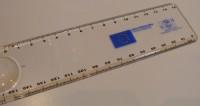 43356p linijka 15cm z lupą