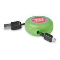 8733m Kabel USB-mikroUSB zwijany (MO8733) 8733m Kabel USB-mikroUSB zwijany (MO8733)