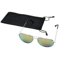 10060106f Okulary przeciwsłoneczne Aviator z lustrzanymi, kolorowymi soczewkami