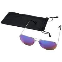 10060129f Okulary przeciwsłoneczne Aviator z lustrzanymi, kolorowymi soczewkami