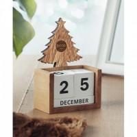 1467x-40 Drewniany kalendarz CHOINKA