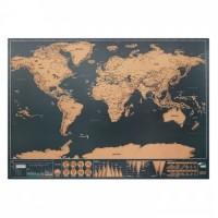 9736m-13 Mapa świata - zdrapka