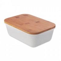 9740m-13 Lunchbox z bambusową pokrywką