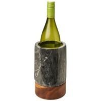 11299700f Chłodziarka do wina wykonana z marmuru i drewna Harlow