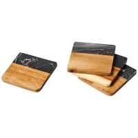11299800f Marmurowe i drewniane podkładki Harlow
