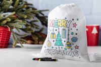 198978c-C Worek do kolorowania z motywem świątecznym