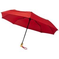 """10914304f Składany, automatycznie otwierany/zamykany parasol Bo 21"""" wykonany z plastiku PET z recyklingu"""