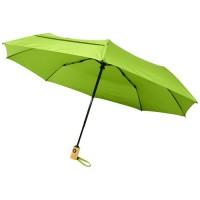 """10914309f Składany, automatycznie otwierany/zamykany parasol Bo 21"""" wykonany z plastiku PET z recyklingu"""