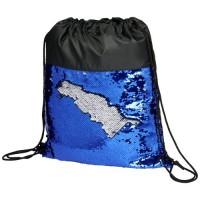 12046501f Cekinowy plecak workowy Mermaid