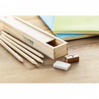 9836m-40 Zestaw kredek i ołówków w piórniku