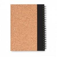 9859m-03 Korkowy notatnik z długopisem